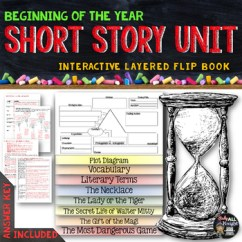 The Lady Or Tiger Plot Diagram Peterbilt 359 Wiring Short Story Unit Literature Guide Flip Book By Danielle Knight Tpt
