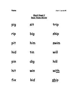 Reading Packets:1-5 Short Vowel A,I,O,U,E by 4StepsReading