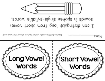 Short and Long Vowel Flap Books {common core aligned}! by