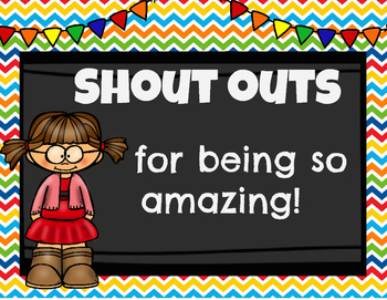 Shout Outs Recognizing Amazing Students Teachers And Staff TpT