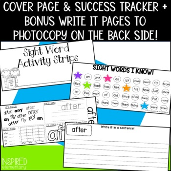 Sight Word Activity Strips: First Grade Words by Inspired
