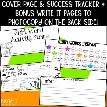 Sight Word Activity Strips: Second Grade Words by Inspired