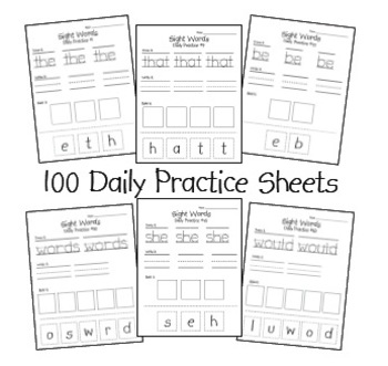 Sight Word Daily Practice Pack by Perfectly Primary
