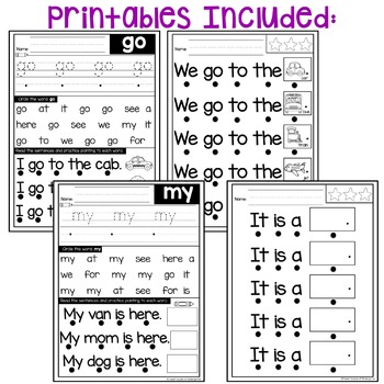 Sight Word Fluency Phrases {Track and Read Pre-Primer