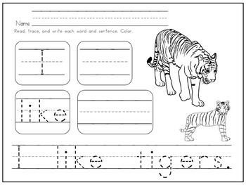 Sight Word Fun for Kindergarten and First Grade Zoo