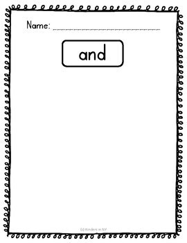 Sight Word Practice; Sight Word Hunt (75 High-Frequency