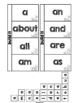 Sight Word Interactive Notebook Fry's First 100 Review by