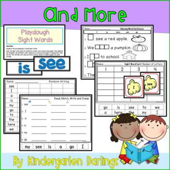 Sight Word List 1: Individual Instruction, No Prep