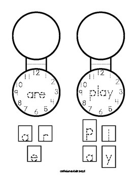Sight Word Pocket-Lockets. Build Sight Words Letter by