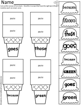 Sight Word Scoops (2nd Grade Edition) by The Moffatt Girls