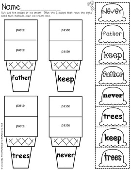 Sight Word Scoops (Fry's 3rd 100 Sight Words) by The