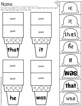 Sight Word Scoops (Fry's First 100 Sight Words) by The