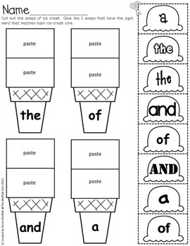 Sight Word Scoops (Fry's First 300 Sight Words) by The