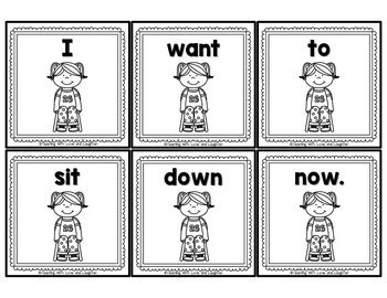 Sight Word Scrambled Sentences by Teaching With Love and