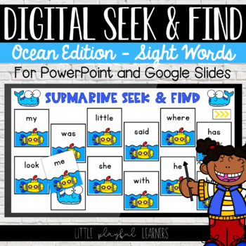 Digital Seek & Find: Sight Words - Ocean Edition