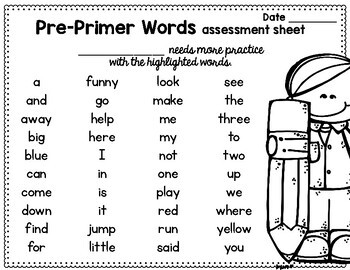 Sight Word Sentence Flashcards: DOLCH Pre-Primer by Brenda
