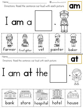 Sight Word Sentences Guided Reading Kindergarten by