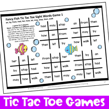 Dolch Sight Words Games First Grade List by Games 4