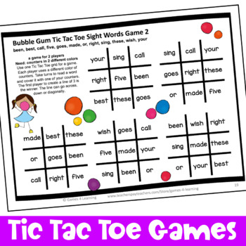 Dolch Sight Words Second Grade List Games for Centers or