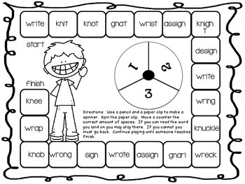 Silent Letters Packet {wr, by Geaux First Grade