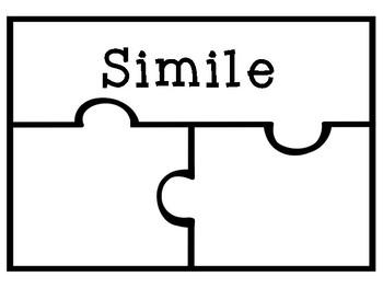 {Figurative Language} Similes & Metaphors Meaning Puzzle