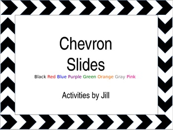 Chevron pattern powerpoint template