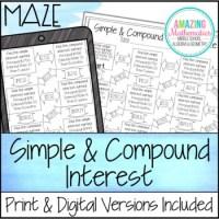 Amazing Mathematics Compound Interest Maze Worksheets