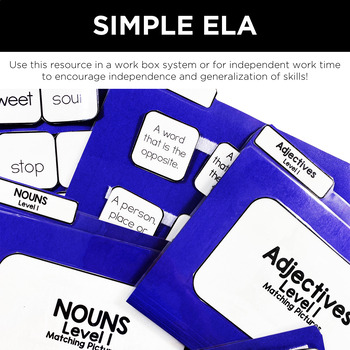 Simple ELA File Folders for Special Education by Simply