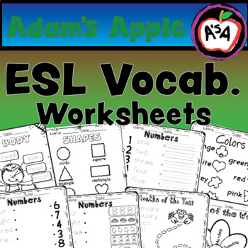 Simple ESL Worksheets, Numbers, Colours, Shapes, Months
