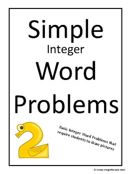 Simple Integer Word Problems by Simple Straightforward