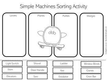 Simple Machines Worksheet Activity by Green Apple Lessons