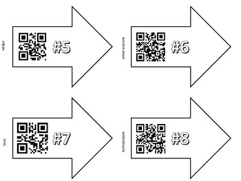 Simple Machines QR Code Game {Find & Identify Machines in