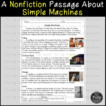 Simple Machines Reading Comprehension Paired Passages By