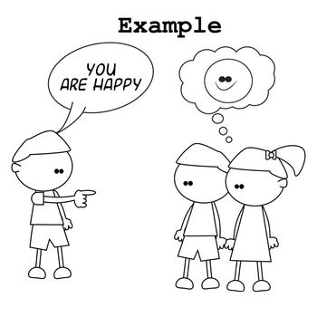 Simple Pronoun Clip Art for Illustrating Beginner Grammar