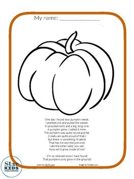 Simple Pumpkin Coloring Page Tpt