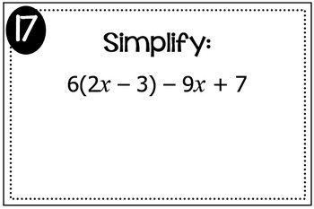 Simplifying Expressions (Distribute and Combine Like Terms