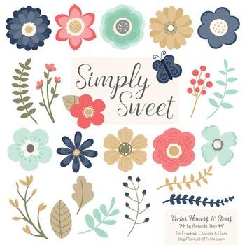 simply sweet vector flowers