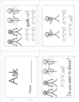 Sight Words Worksheets, Mini-Songbooks, and Flashcards Vol