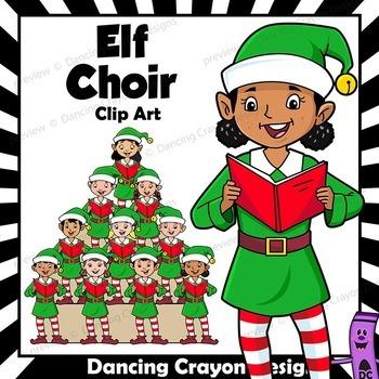 singing elves caroling choir