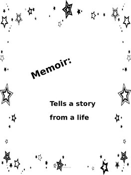 Six Word Memoir Lesson Plan with Printable by From room