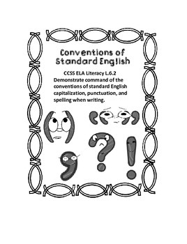 Sixth Grade Language Conventions Interactive Notebook