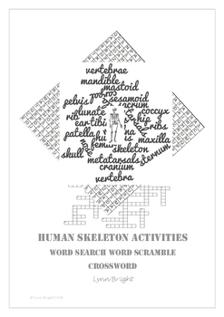 Skeleton: Human Biology, Word Search, Word Scramble