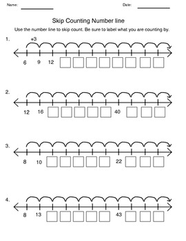 Skip Counting Numberline by Fantastic Fun Flashcard Games
