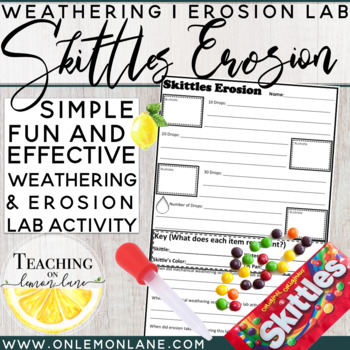 Skittles Erosion Mechanical And Chemical Weathering
