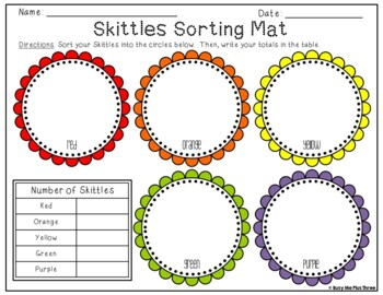 Skittles Graph {Sort Tally Total Graph and Answer