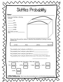 Skittles Math Activities By Teaching Curious Kids