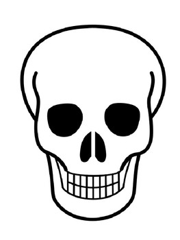 Skull Template Skull Outline Halloween Skull Coloring Page