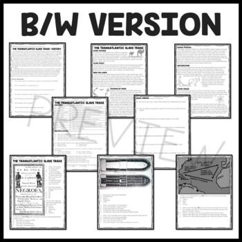 Slave Trade Reading Comprehension Worksheet and Document