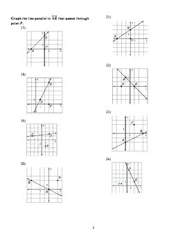 Slope of Parallel and Perpendicular Lines Worksheet by
