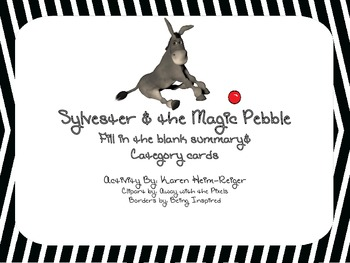 Sylvester and the Magic Pebble Recap Activity and Category